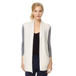 Ariztia Wilfred White Silk Cashmere Vest Cardigan